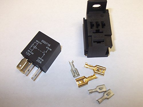 4Pin 12V 20AMP Micro Relais Normalerweise offen Resister in Coil Auto Van mit Boden (Offen Normalerweise Relais)