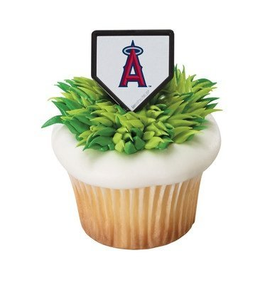 aseball Team Logo Cupcake Rings - 24 pc by MLB ()