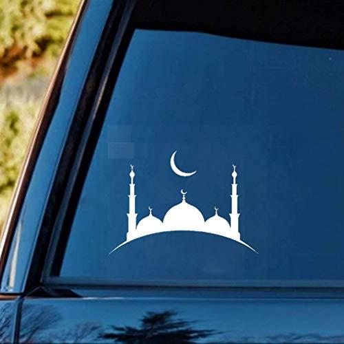 auto aufkleber 13,6 Cm x 9,8 Cm Aufkleber Islam Moschee Muslimischen Religion Arabische Kunst Auto Aufkleber Für Auto Laptop Fenster Aufkleber