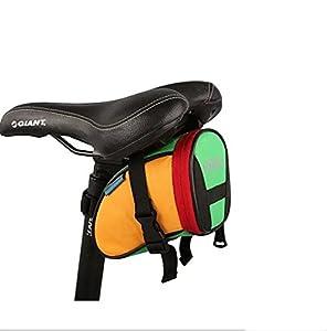 ROSWHEEL Bicycle Saddle Bag Seat Post Storage Tail Pouch Cycling Road Bike Rear Pannier-Blue