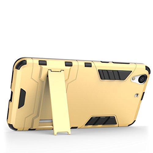 Honor 5X Hülle,EVERGREENBUYING Abnehmbare Hybrid Schein KIW-TL00 Cases Ultra-dünne Schutzhülle Case Cover mit Ständer für Huawei Honor 5X (Gold+Schwarz) Rot