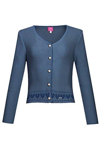 Edelheiss Damen Strickjacke blau mit Herzen Joy 124958, Größe 36