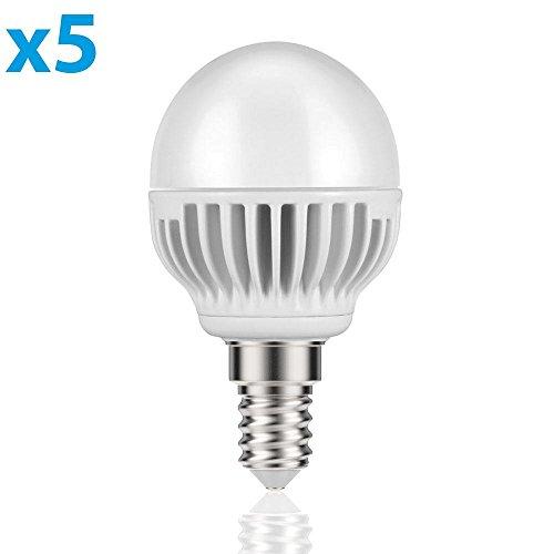 parlat E14 LED Lampadina 5W =32W 350lm 140° bianca calda, 5 PZ