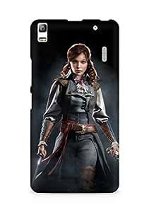 Amez designer printed 3d premium high quality back case cover for Lenovo K3 Note (Assassins Creed Unity Elise)