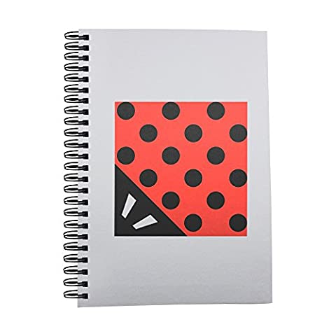 Notebook with Abstract cubism ladybug icon