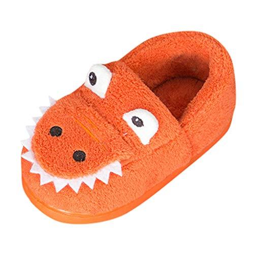 Lazzboy Kinderschuhe Kleinkind Jungen Mädchen Fluffy Little Kids Schuhe Warm Cute Animal Home Slipper(Orange,180(3.5-4Years))