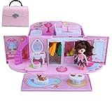 jfhrfged Dollhouse Tote Doll Castle Villa Kleines Mädchen Haus Geeignet für Kinder Magic Castle...