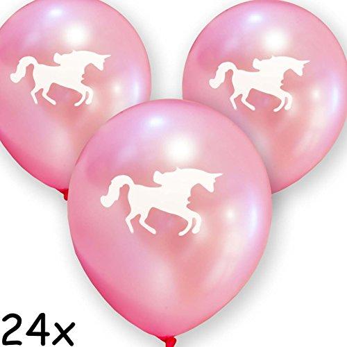 HomeTools.eu – 24 Luftballons Einhorn Unicorn | Pink | 30cm