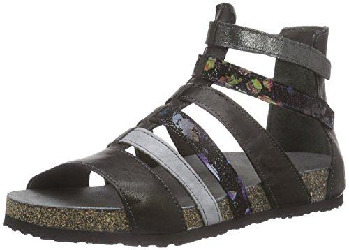 THINK! Dufde Sandale, Damen Römersandalen Sandalen, Schwarz (SZ/KOMBI 09), 38 EU