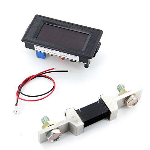 200a Amperemeter Mit Shunt 3 1.2 Digitalanzeige LED Rot Panel Amp Amperemeter AC / DC 12 V - 260 V (12v Ac-panel)
