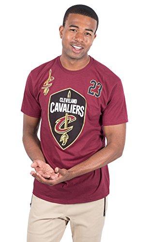 UNK NBA Lebron James Cleveland Cavaliers Herren T-Shirt Kurzarm, Herren, Lebron James Cleveland Cavaliers Men's T-Shirt Tee Shirt, Wein, Large