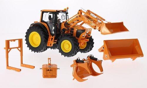 Preisvergleich Produktbild John Deere 7430, kommunal, mit Frontlader und Frontlader-Werkzeugen , Modellauto, Fertigmodell, Wiking 1:32