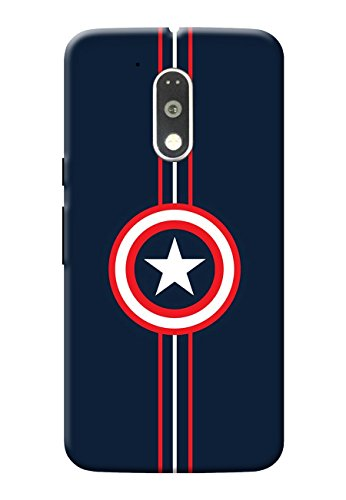 Hamee Printed Hard Back Cover / Case for Motorola Moto G4 PLUS (Moto G Plus, 4th Gen) Captain America Shield 1