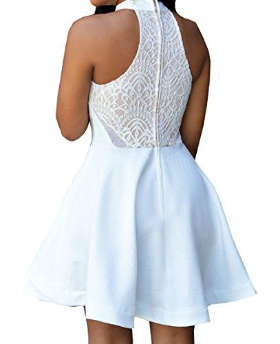 Valin SY22477 deman sexy kleider Skater Kleid Weiß
