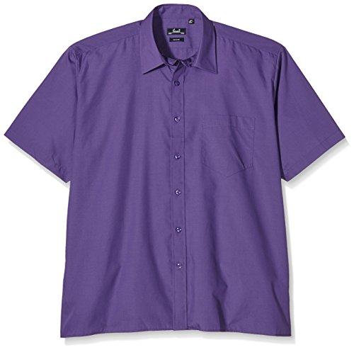 Preisvergleich Produktbild Premier Popelin Herren Hemd, kurzärmlig (Kragenweite 43cm) (Violett)