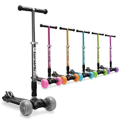 3StyleScooters® RGS-3 Grandes Enfants Trottinette 3 Roues - Parfait pour Les Enfants 7 Ans Et Plus - Design Pliable et poignées en Hauteur réglables