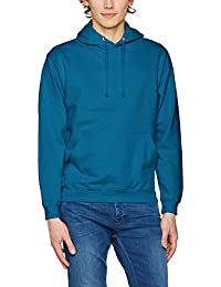 Awdis College Hoodie, Sweat-Shirt à Capuche Homme, Blanc, Small
