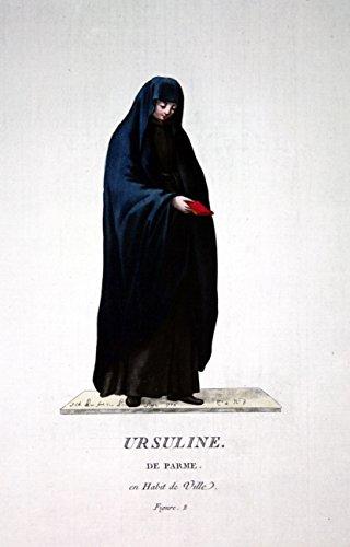 Ursuline de Parme - Orsoline dell'Unione Romana Ursulinen Parma Italien costume Tracht Kupferstich engraving