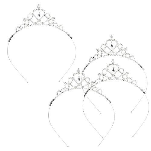 Katara- Juego de 4 Piezas, Tiara de Novia Corona con Diamantes de Imitación para Mujeres y Niñas, Boda, Metal, Color Set (1669)