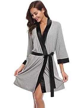 Aibrou Robe Kimono Knit Cotton Light Short Bridesmaids Spa Bathrobe
