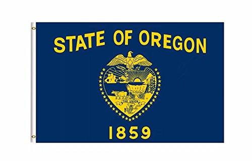 DFLIVE Oregon State Flagge Banner 3Ft X 5ft Polyester Bedruckt mit Tüllen -