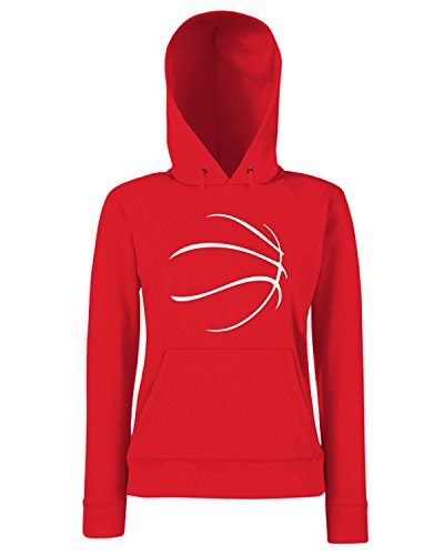 T-Shirtshock - Sweats a capuche Femme OLDENG00739 basketball (5) Rouge