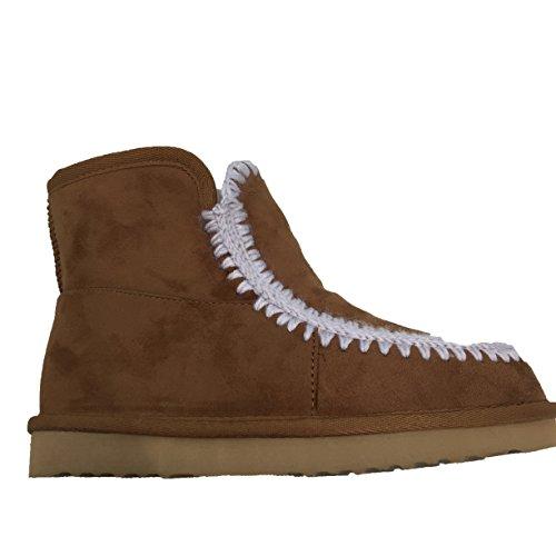 ugg-classic-botas-de-nieve-mujer-marron-marron-claro-39