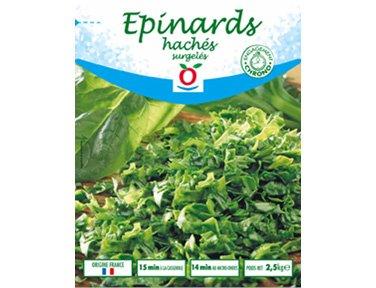 TOUPARGEL - Épinards hachés - 2,5 kg - Surgelé