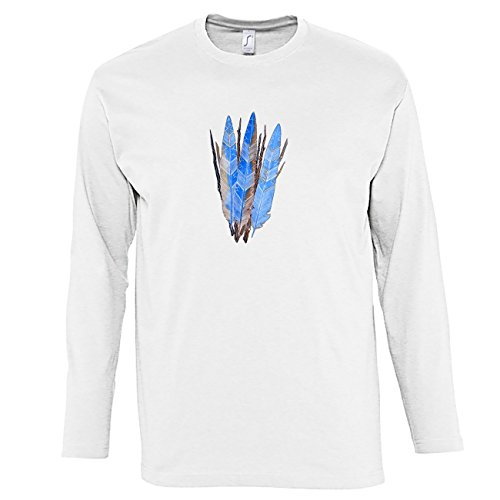 hommes-t-shirts-manches-longues-avec-three-blue-native-american-feathers-illustration-imprime-col-ra