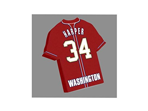 Major League Baseball – MLB JERSEY Kühlschrank Magnete – Sie den Namen, Anzahl und Team Farben, kostenlose Personalisierung. Washington Nationals Baseball Fridge Magnet