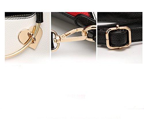 Mädchen Handtasche Leder Mädchen Schultertasche Nähen Sommer Hit Farbe Mode Freizeit Modern Trend 1