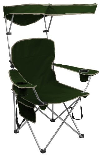 QuikShade Adjustable Canopy Folding Camp Chair - Forest Green