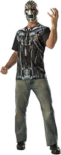 Ultron T-Shirt and Mask Mens Avengers Costume (Medium 38