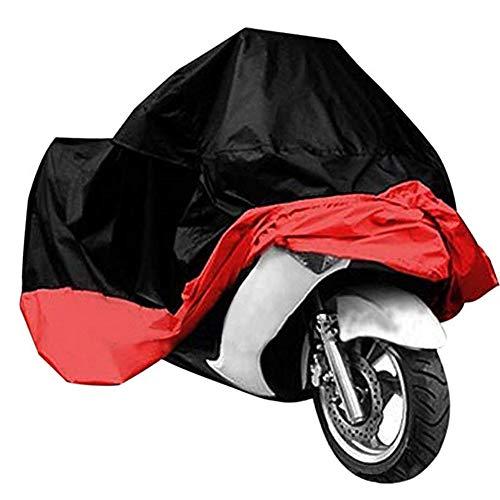 295cm Moto Telone Moto Garage invernale Fest Telo Coprimoto impermeabile traspirante per Indoor e Outdoor Nero e Rosso HomePro Duct