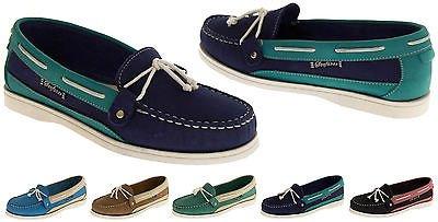 Seafarer 7200L Cuir Moccasin Chaussures Bateau Femmes