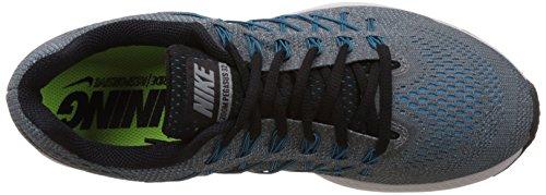 Nike Air Zoom Pegasus 32, Chaussures de Running Compétition Homme Gris / Negro / Azul (Cool Grey / Black-Blue Lagoon)