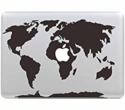 "Stillshine Removable World Map Vinyl Decal Sticker Skin For Apple Macbook Pro Air Mac 13"" Inch Unibody 13 Inch Laptop"
