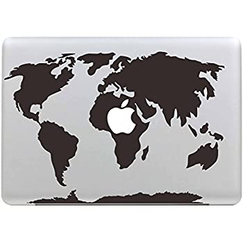 Stillshine removable world map vinyl decal sticker skin for apple stillshine removable world map vinyl decal sticker skin for apple macbook pro air mac 13 gumiabroncs Gallery