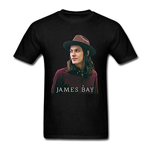 herrens James Bay Smiling Profile Tshirts XXXX-L Black s