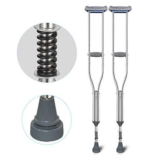 Gmsqj Achselkrücken (Paar), Mit Dämpfungsfeder, Comfortable Medical Adult Crutch Mit Stoßdämpfer, 9 Höhenverstellbar, Verhindert Schwellungen Und Schmerzen in Der Achsel