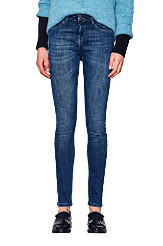 ESPRIT Damen Skinny Jeans 997EE1B816, Blau (Blue Dark Wash 901), W29/L34