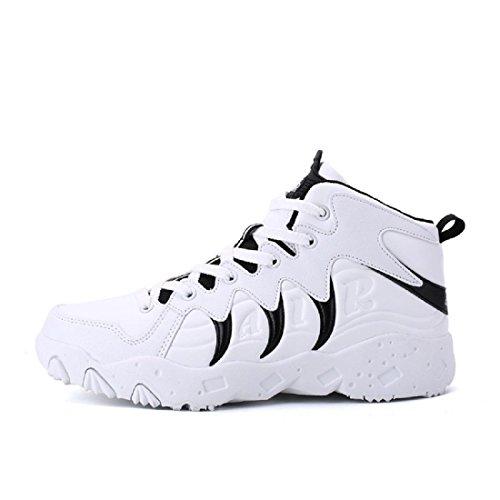 Uomo Inverno Spessore inferiore Aumenta le scarpe Moda Antiscivolo Scarpe sportive formatori traspirante Ballerine euro DIMENSIONE 36-44 white