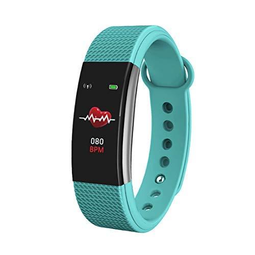 Bingo F1s Smart Health Band with Waterproof Heart Rate Sleep Monitor pedometers Calorie Counter Call Reminder Men Women Boys Kids (Green)