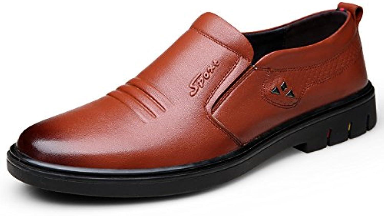 DHFUD Zapatos De Hombre Zapatos De Cuero De Primavera Zapatos Cómodos Zapatos De Hombre Zapatos Casuales -
