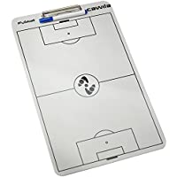 Cawila Klemmbrett Clipboard Fußball - Pizarra de fútbol para Entrenador de fútbol, Color Blanco, Talla Standard