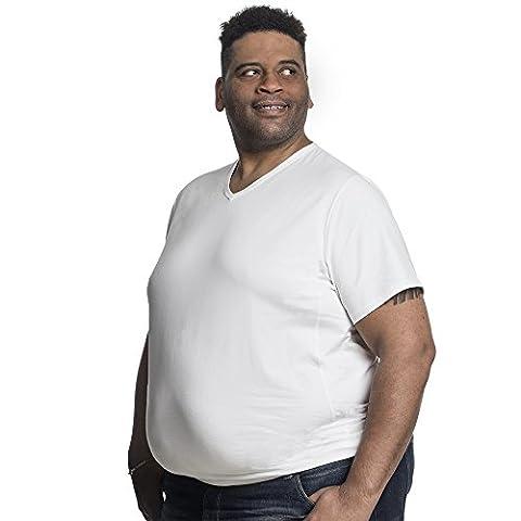 Lot de 2 T-shirts Alca Classic , Encolure en V, Tailles XL-B - 8XL-B Des Tshirts spécialement conçus pour les hommes avec une taille « 112 - 178 cm » de ventre en plus (4XL-B,