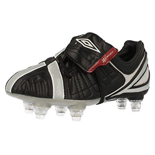 Umbro–Chaussures De Football Garçons x-500-j SG multicouleur - Black/Silver/Red