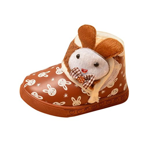 Chaussures de bébé,Fulltime® Bottes bébé Filles Garçons Hiver Thick Neige fourrure Chaussures