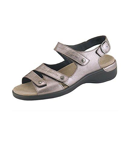 Semler Mulheres Heike 1085 Couro Liso Bronze Velcro Sandália