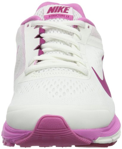Nike Zoom Structure +17, Chaussures de running entrainement femme Blanc - Weiß (Summit White/Bright Magenta-Red Violet)